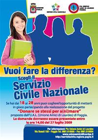 locandina servizio civile 2009